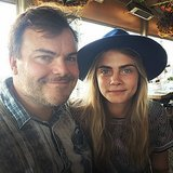 Even famous models have idols, and Cara staged an impromptu photo shoot with hers: Jack Black.  Source: Instagram user caradelevingne