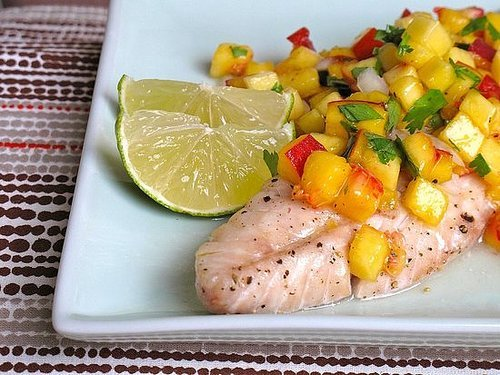Fish With Peach Salsa