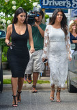 Earlier in the day, Kim filmed a scene for Kourtney's reality show in the Hamptons.