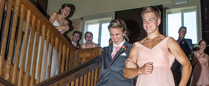 Now THIS Is How to Make a Bridal Party Entrance