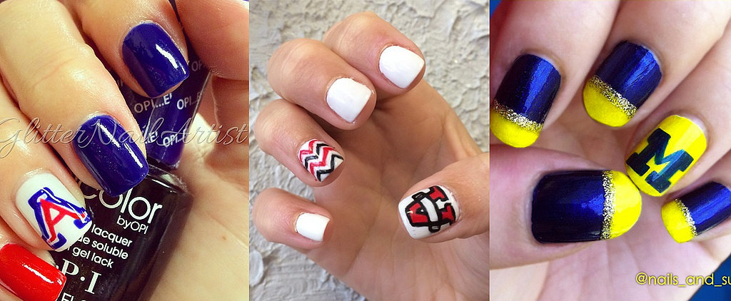 "Collegiate Nail Art That Gives a New Meaning to ""Spirit Fingers"""