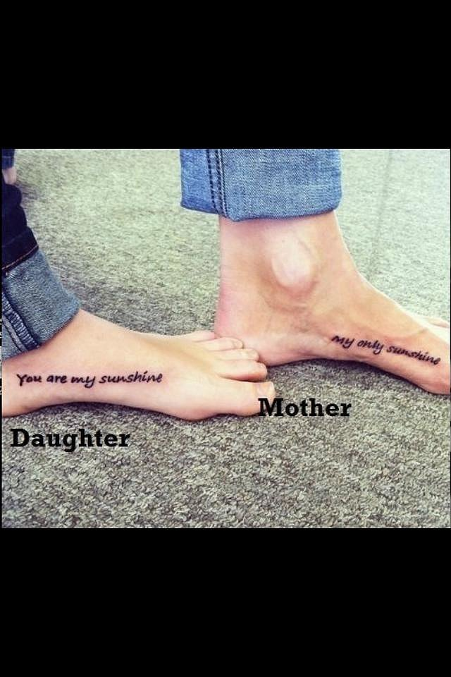 """""""My daughter and I got these tats [because] I used to sing this to her all the time. I adore her so much. She is 21 and I thought this was perfect for us. It made the bond that much more special. No regrets!"""" —Cheri St Pierre"""
