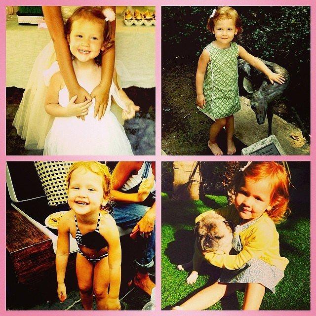 Jessica Alba wished Haven Warren the happiest of birthdays with this sweet collage. Source: Instagram user jessicaalba