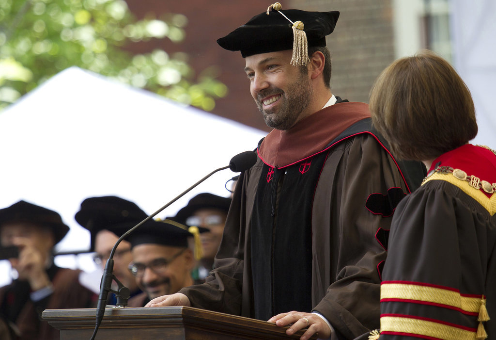 And When He Received His Honorary Degree at Brown University