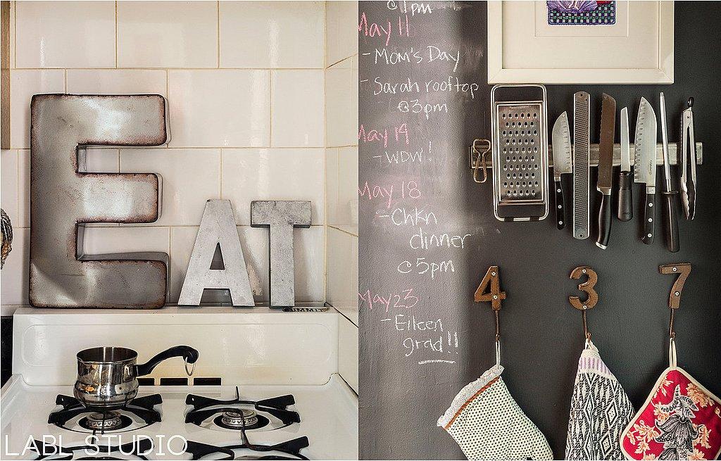 Chalkboard continues kitchen doubling handy calendar