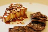 Brie With Caramel and Almonds