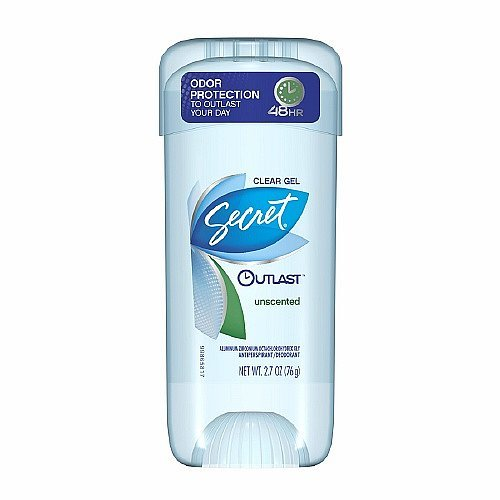Secret Outlast Antiperspirant & Deodorant Clear Gel, Unscented, $5