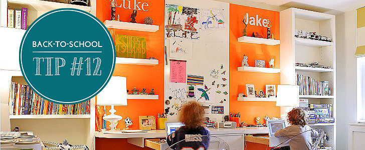 Encourage Homework Diligence With an Inspiring Homework Station