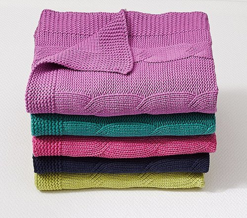 Cable-Knit Throws