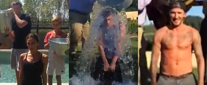 The Beckhams Band Together For the Ice Bucket Challenge