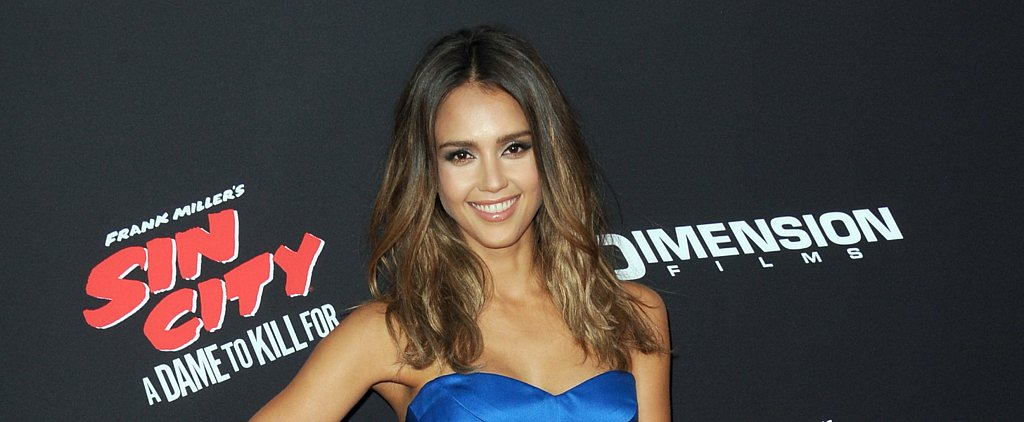 You Should Try Jessica Alba's Tousled Tresses For Happy Hour Tonight