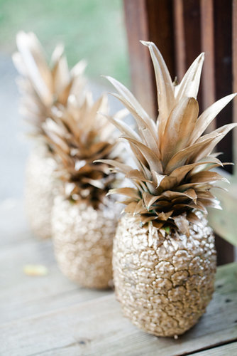 Spray-Painted Pineapples