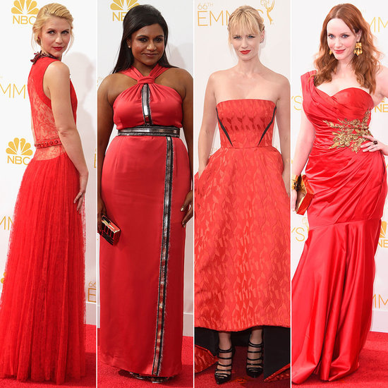 Red Dress Trend at Emmys 2014