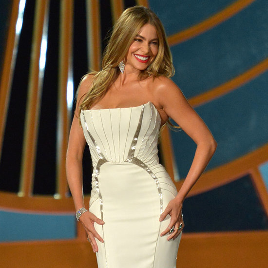 Sofia Vergara on Rotating Platform at 2014 Emmy Awards