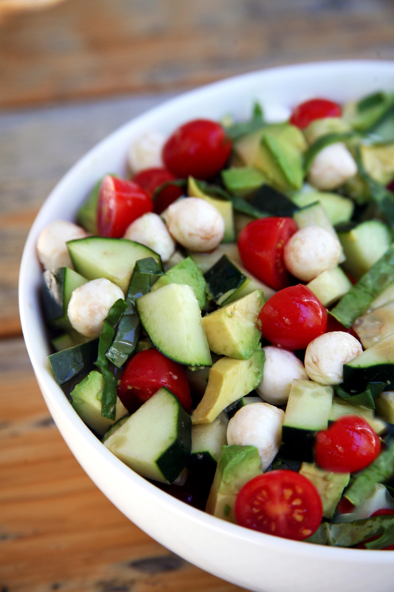 Cucumber Avocado Caprese Salad | What to Do With Cucumbers (Besides ...