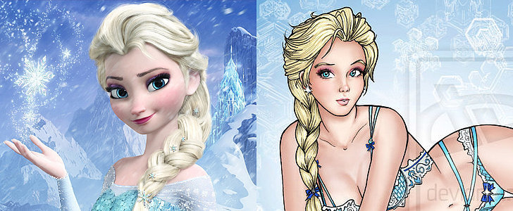 See the Disney Princesses Model Lingerie Looks