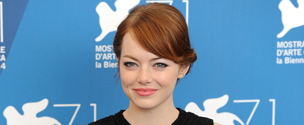 Emma Stone's Subtle Cat Eye Is Your New Workday Staple