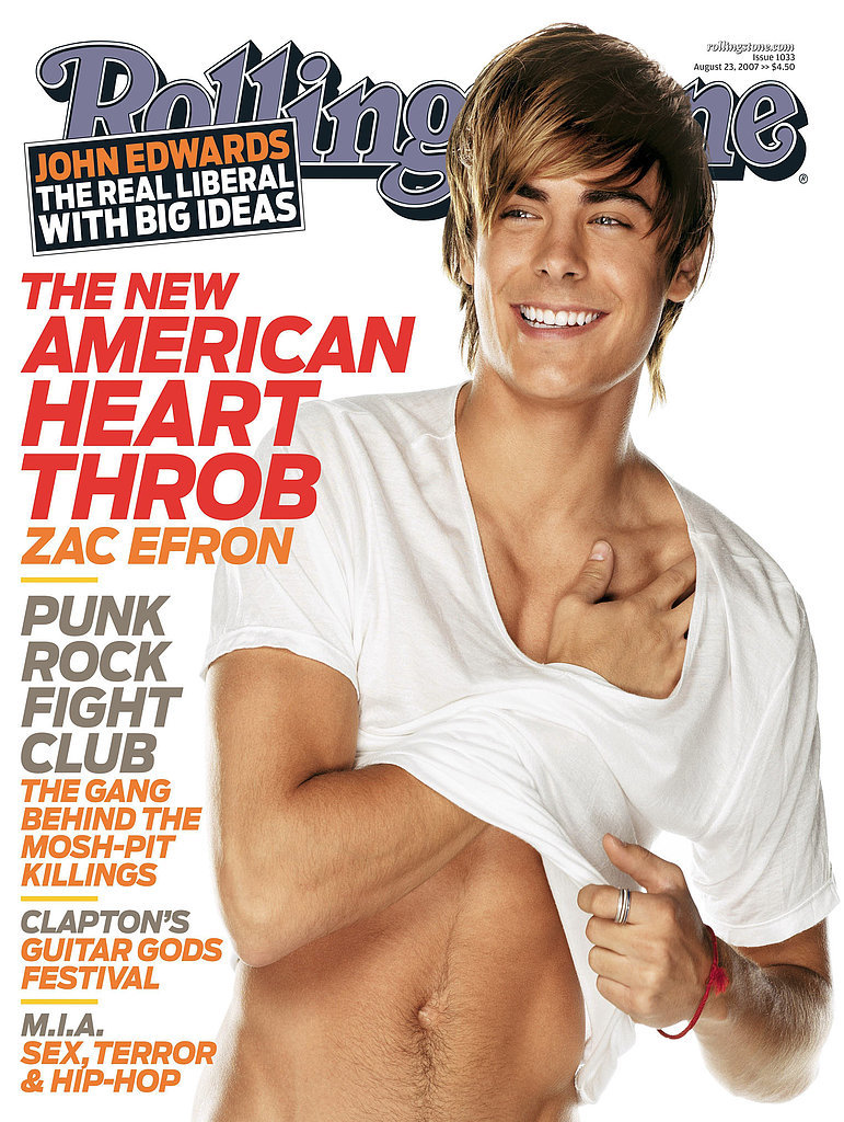 Zac Efron For Rolling Stone, August 2007