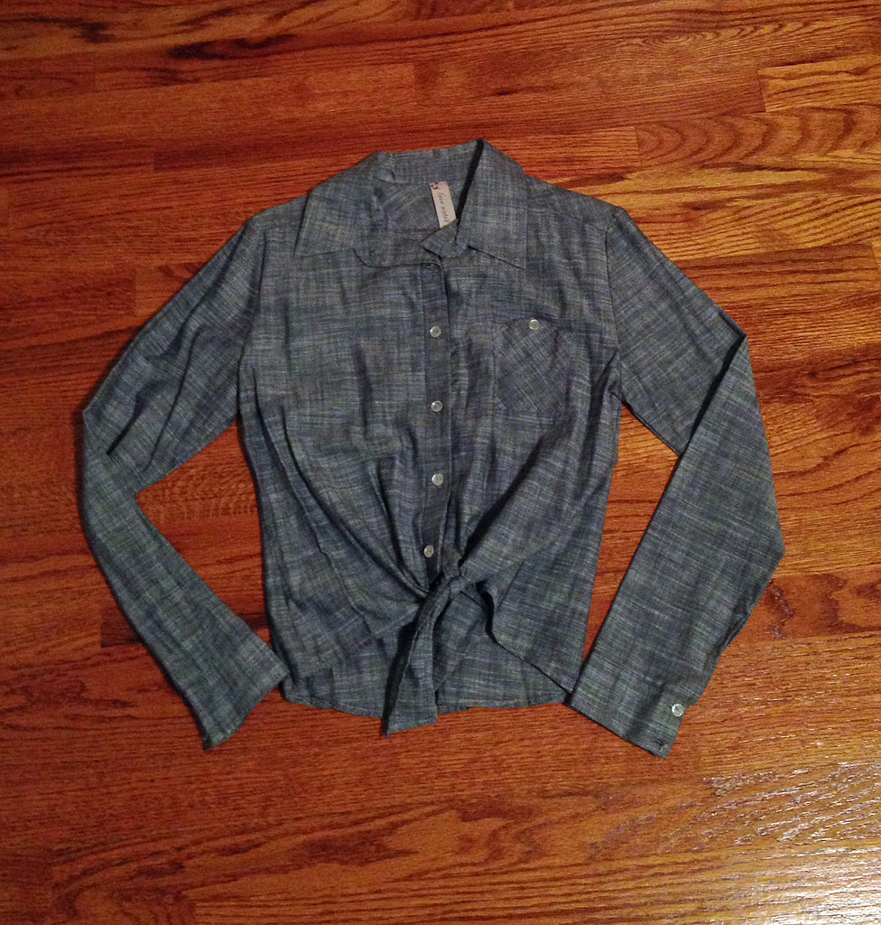 My Chambray Waist-Tie Blouse