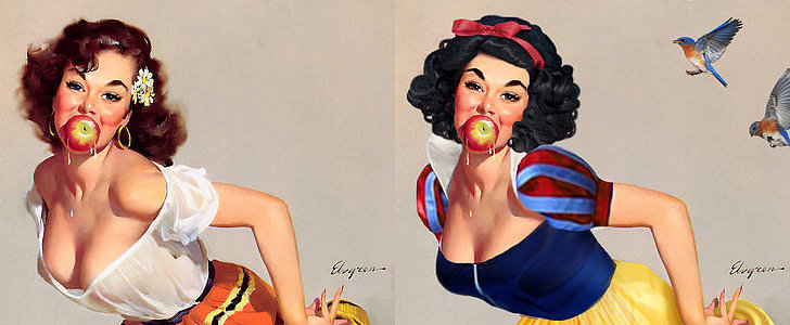 Artist Transforms Pinup Girls Into Disney Princesses