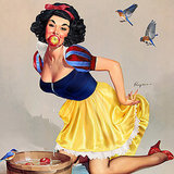 Pinup Disney Princess Art