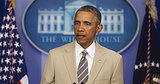 Obama Shows Off Sad Beige Suit for Summer
