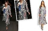 Alexa Chung's Printed Burberry Dress Is A Totally Reasonable Fall Splurge