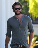 Liam Hemsworth looks hot furniture shopping in LA