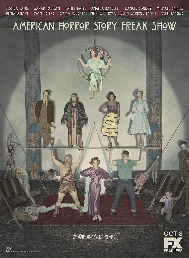 Zoom In on the American Horror Story: Freak Show Poster