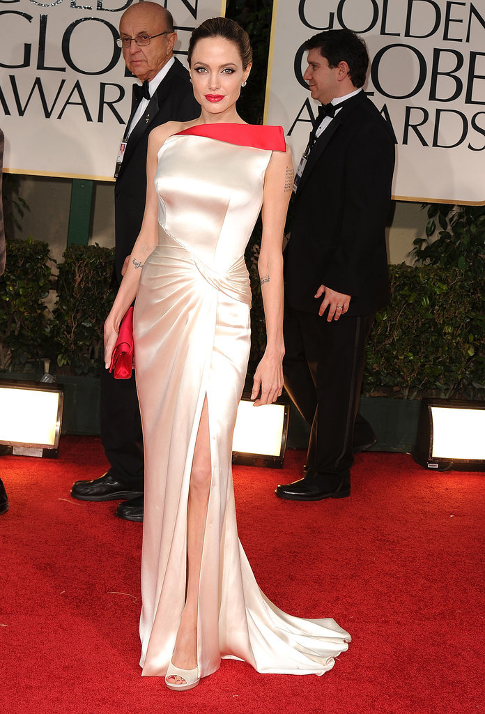 Angelina Jolie at the 2012 Golden Globe Awards
