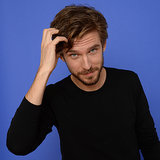 Dan Stevens Asked If He Had to Beat Off Other Actors   Video