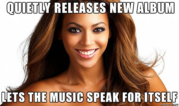 That one time she dropped a new album with no warning.