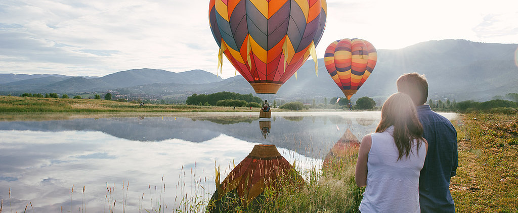 The Sky's the Limit For This Hot Air Balloon Engagement Shoot