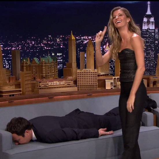 Gisele Bundchen planks Jimmy Fallon