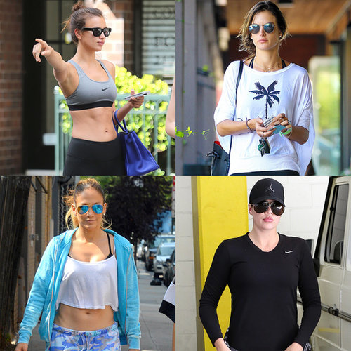 Celebrities working out