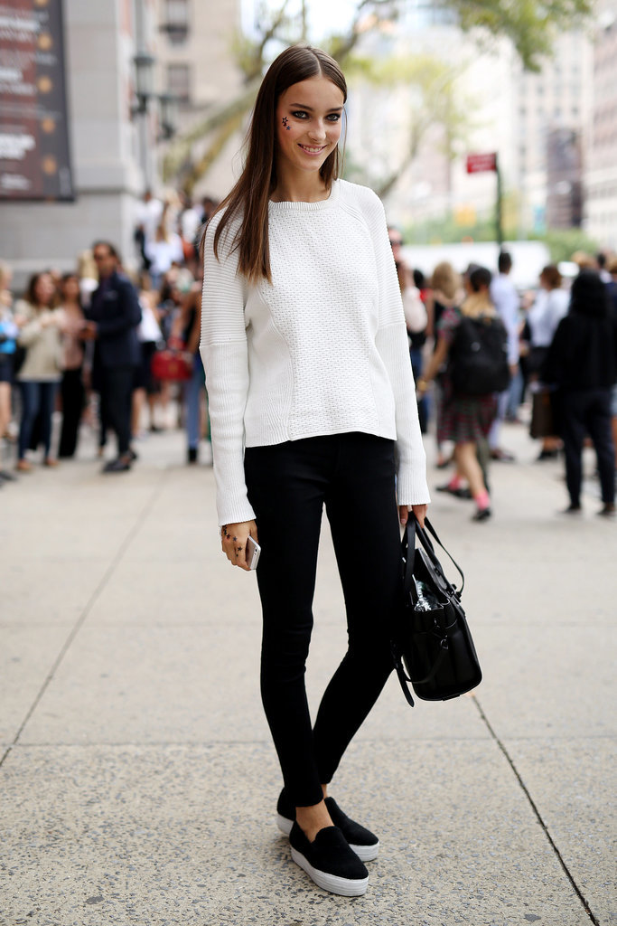 New York Fashion Week The Supermodels Keep It Sleek On The Streets At Pfw Popsugar Fashion