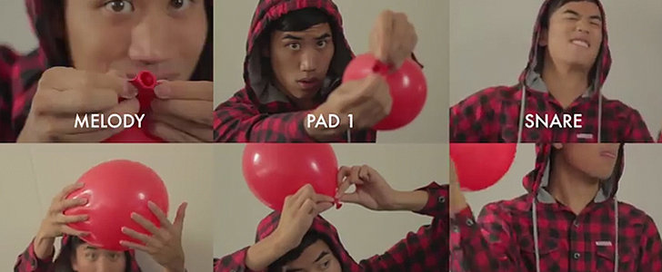 """Prepare to Be Amazed as This Guy Plays """"99 Red Balloons"""" With Red Balloons"""