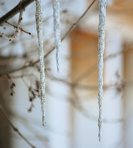 Glittery Foil Icicles