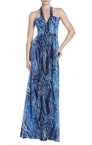 $178.00 BCBG STARR V-NECK HALTER DRESS
