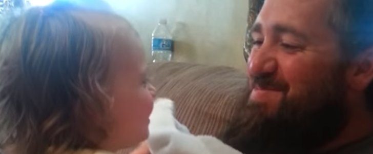 This Dad's Peekaboo Surprise Terrifies His Daughter