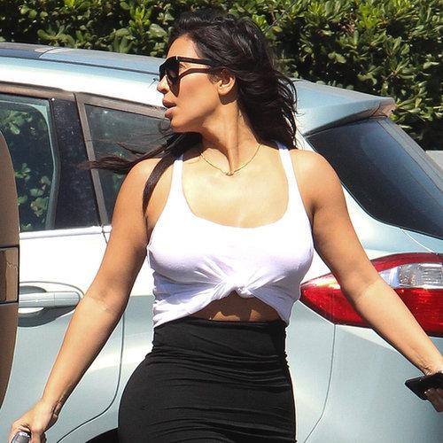 Kim Kardashian in Black and White Dress | Pictures