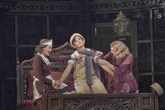 Marlis Petersen (Susanna), Isabel Leonard (Cherubino), Amanda Majeski (Countess)  Photo: Ken Howard/Met Opera