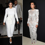 Kim Kardashian in White at Spring 2015 Paris Fashion Week