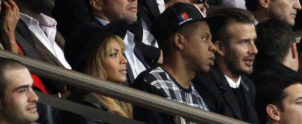 Beyoncé, Jay Z, and David Beckham Totally Went to a Soccer Game Together