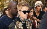 Justin Bieber Trots Out His Trusted High-Fashion Mustache for Paris