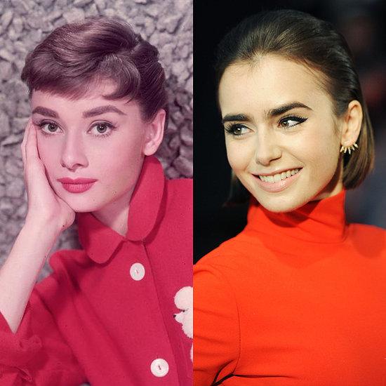 Audrey Hepburn Lily Collins Beauty Look For Halloween