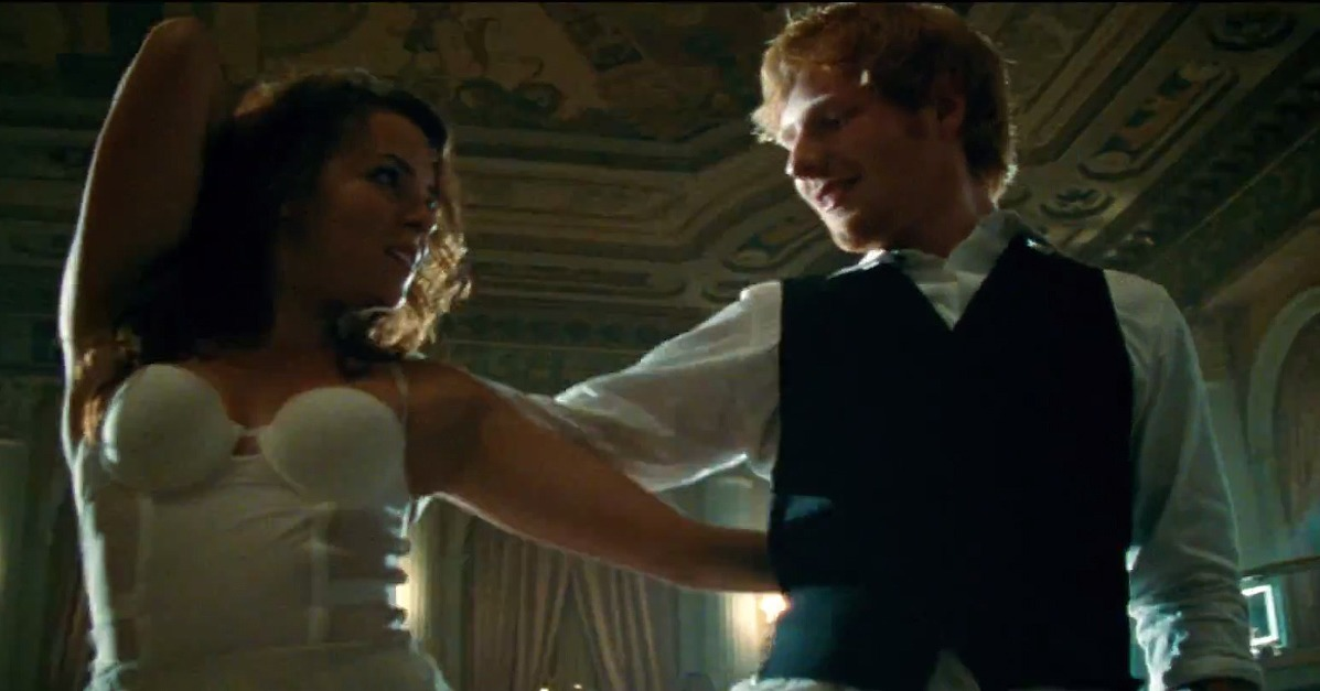 Ed sheeran quot thinking out loud quot music video popsugar entertainment