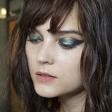 Teal Eye Makeup Fashion Week Beauty Trend