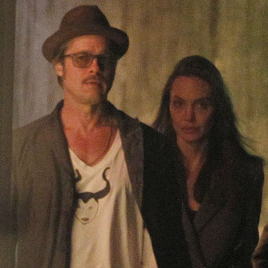 Brad Pitt and Angelina Jolie Land in London | Pictures