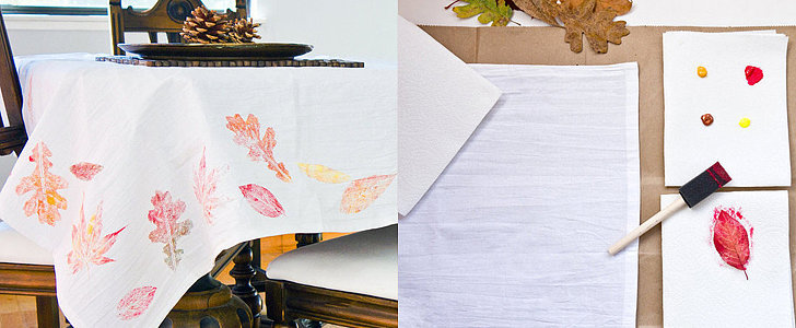 Set the Table: Beautiful and Easy DIY Fall Leaf Tablecloth